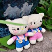 娃娃家2.0公益编织钩针kitty猫