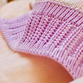 机织双层折边花样螺纹门襟的编织方法