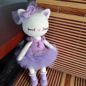 芭蕾小猫莫妮 娃娃家2.0编织钩针猫咪玩偶
