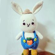 公益编织钩针兔子先生玩偶及图解