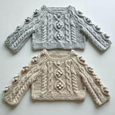 小豌豆(3-3) 婴幼儿棒针扭花插肩毛衣编织视频