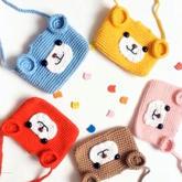 超可爱的宝宝钩针小熊包包编织视频教程
