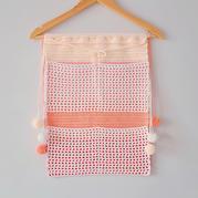 非常简单的钩针壁挂式收纳袋编织视频教程
